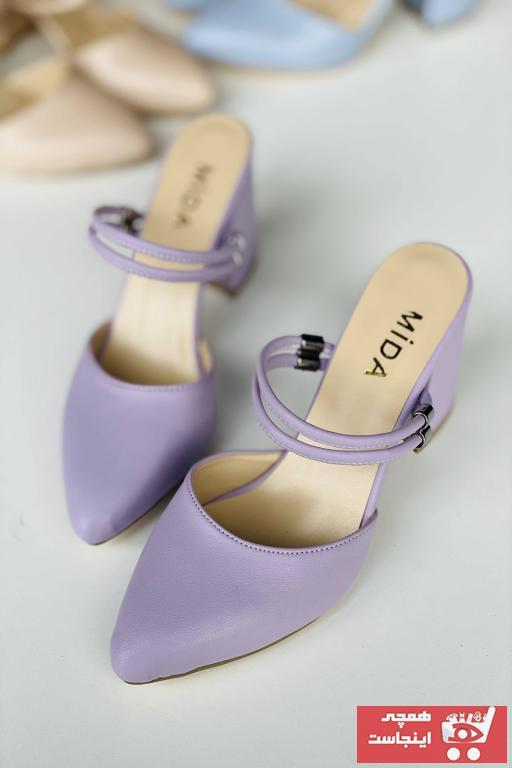 پاشنه دار زنانه جدید برند Mida Shoes رنگ بنفش کد ty94494137
