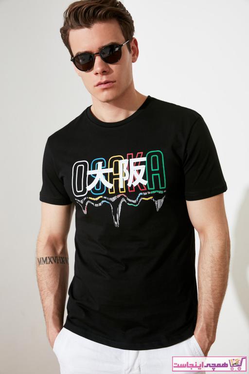 سفارش انلاین تی شرت مردانه ساده مارک ترندیول مرد رنگ مشکی کد ty94611118