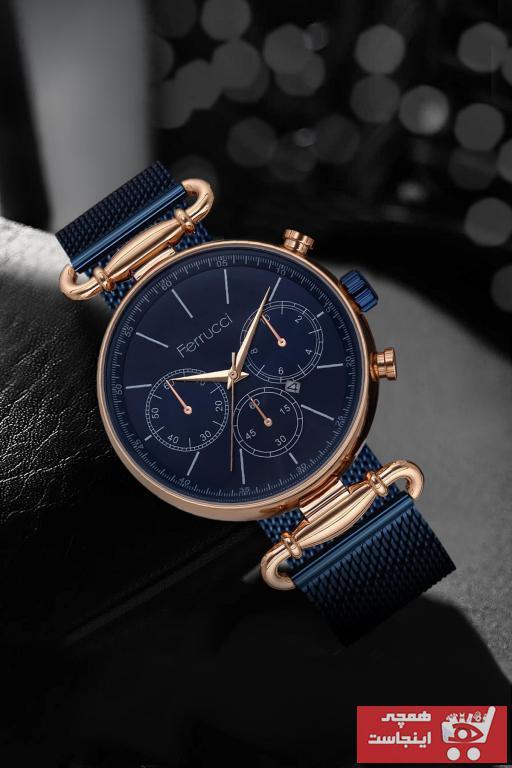 خرید ساعت مچی مردانه ارزان برند Ferrucci رنگ لاجوردی کد ty94632229