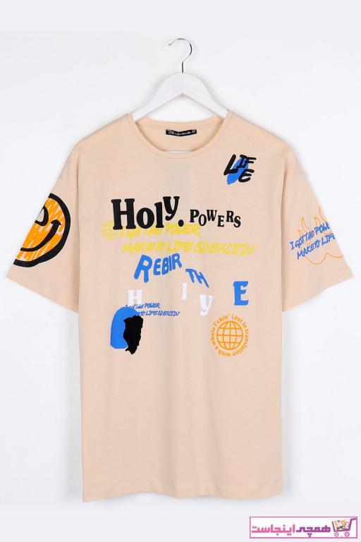 خرید اسان تی شرت مردانه زیبا برند Sekizbiraltı رنگ بژ کد ty94783609