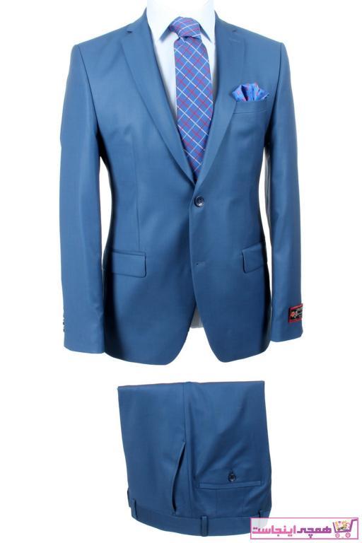 سفارش انلاین کت شلوار ساده برند by ysf رنگ آبی کد ty95153650