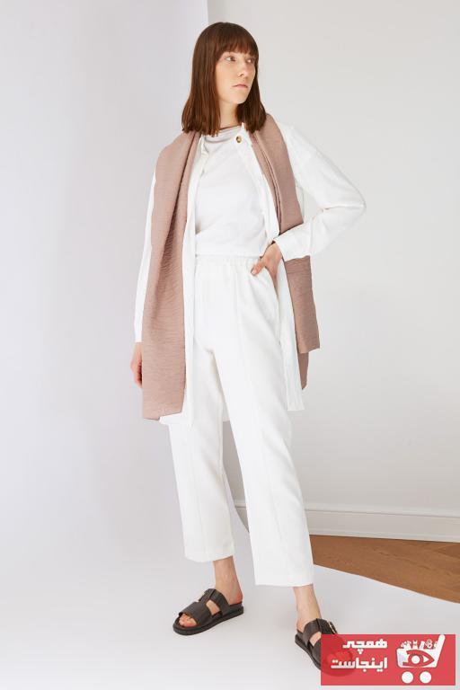 شلوار جین زنانه مدل دار برند Trendyol Modest کد ty95273884