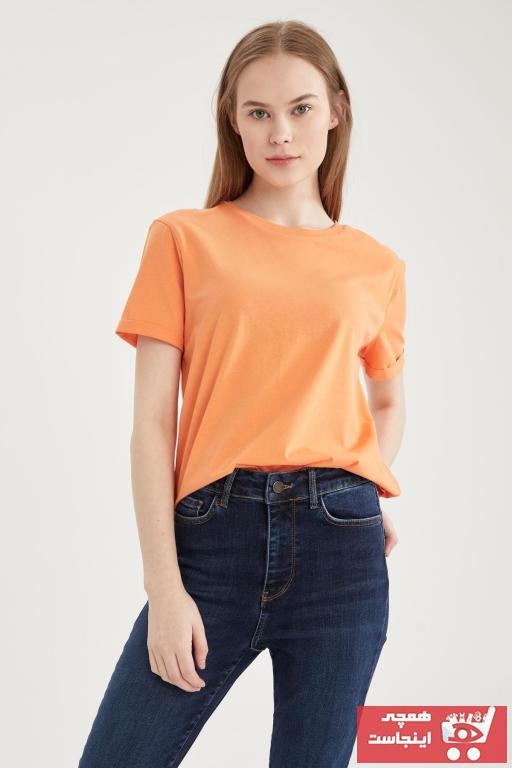 خرید ارزان تیشرت زنانه اسپرت برند دفاکتو رنگ نارنجی کد ty95277258