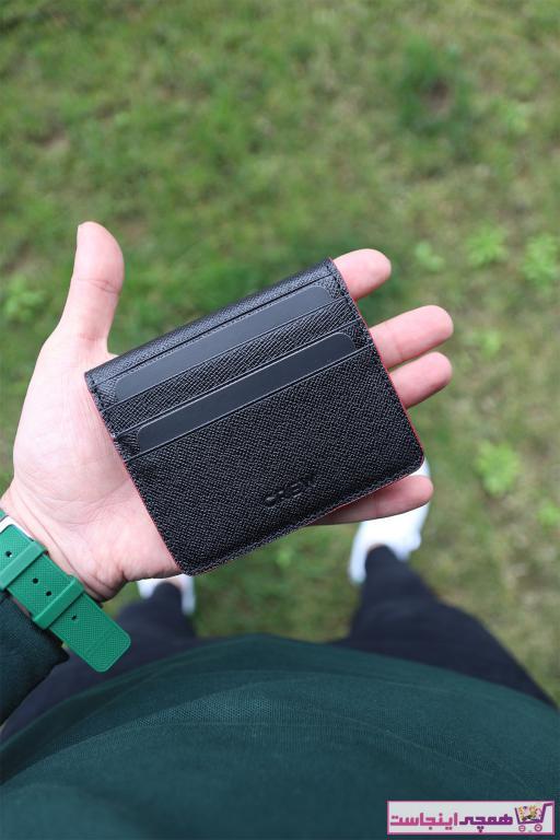 کیف کارت بانکی زنانه تابستانی برند Crew Leather رنگ مشکی کد ty95303460