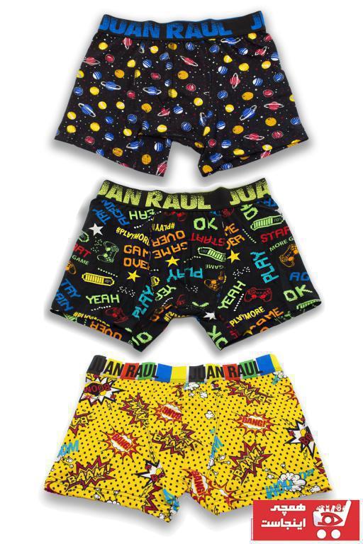 فروش اینترنتی شورت مردانه با قیمت برند Juan Raul رنگ زرد ty95706442