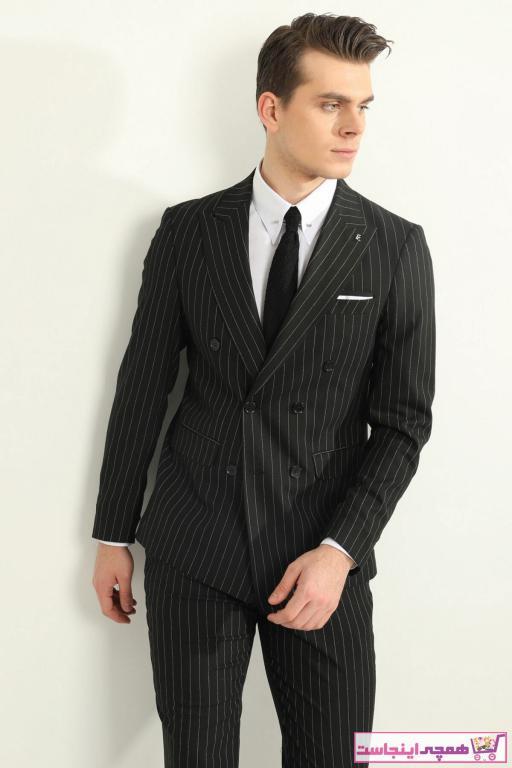 سفارش انلاین کت شلوار ساده برند Fc Plus رنگ مشکی کد ty95966811