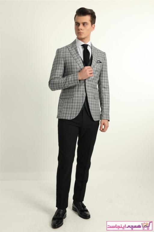 خرید کت شلوار مردانه اصل برند Fc Plus رنگ سبز کد ty95976867