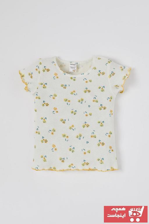 تیشرت نوزاد دخترانه اسپرت مارک دفاکتو رنگ بژ کد ty95985387