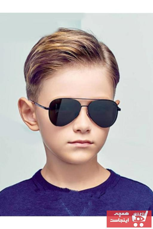 عینک آفتابی بچه گانه پسرانه پارچه  برند La Viva رنگ مشکی کد ty96079830