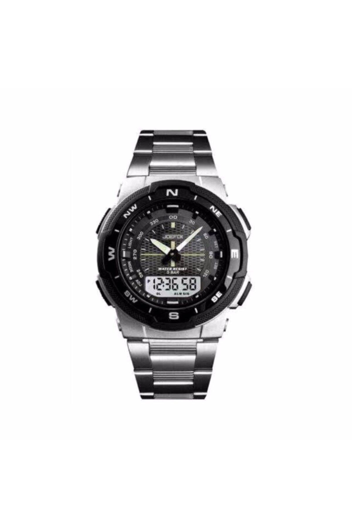 سفارش ساعت مردانه اورجینال برند Joefox رنگ نقره ای کد ty96082163
