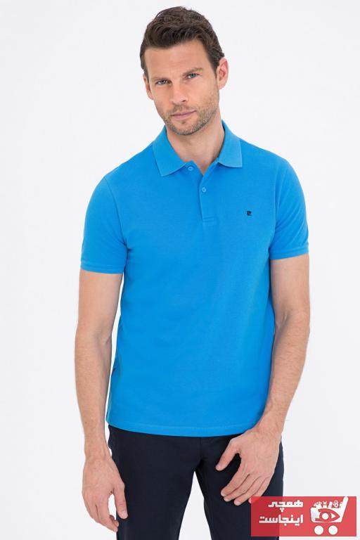 خرید پستی پولوشرت شیک برند پیرکاردین رنگ آبی کد ty96085315