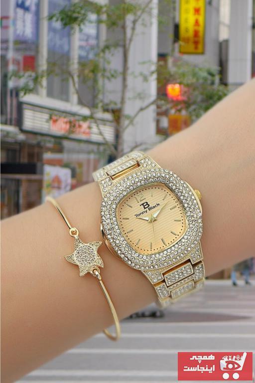 خرید ساعت مچی زنانه اصل مارک تونی بلک رنگ طلایی ty96104559