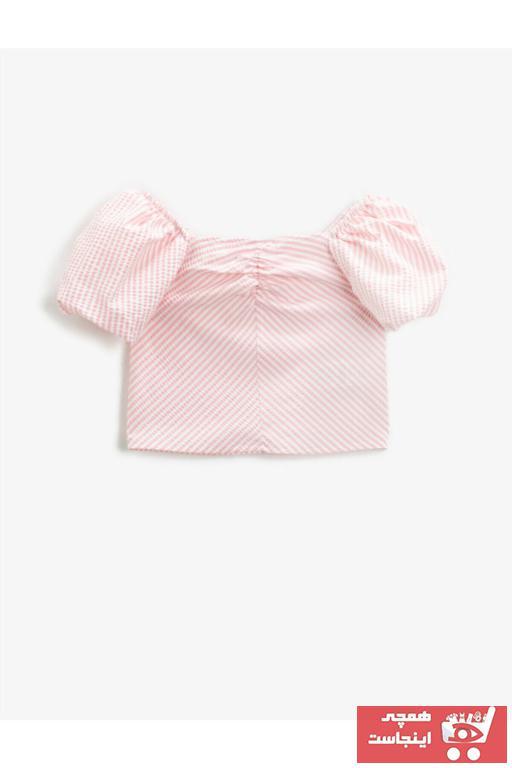 بلوز دخترانه ارزان برند کوتون رنگ صورتی ty96129620