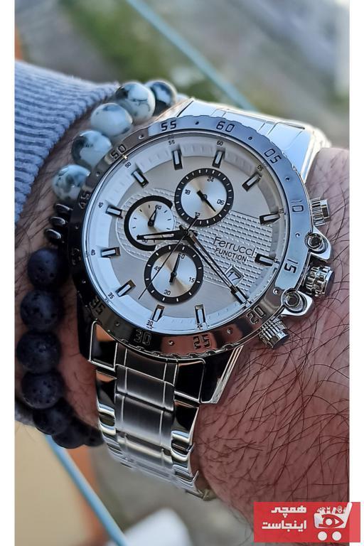 خرید ساعت شیک مردانهارزان برند Ferrucci رنگ نقره ای کد ty96196931