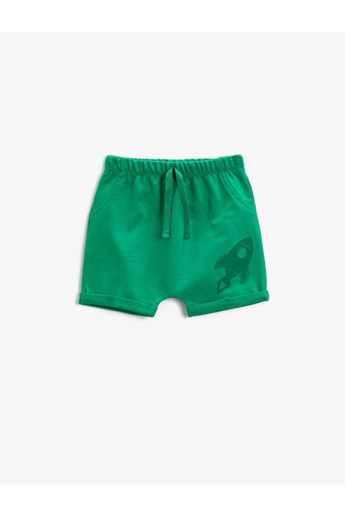 شلوارک طرح دار برند کوتون رنگ سبز کد ty96418620
