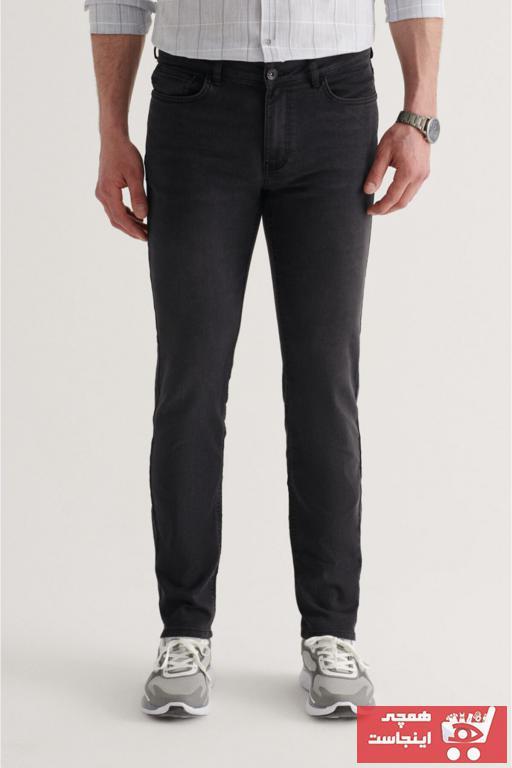 شلوار جین مردانه قیمت برند آوا رنگ مشکی کد ty96599842
