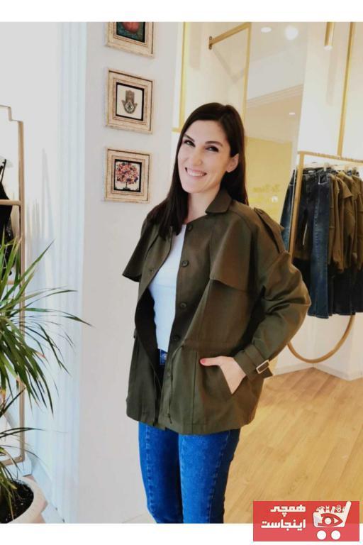 فروش مانتو پاییزی زنانه اصل و جدید برند Unique Boutique رنگ خاکی کد ty96787343