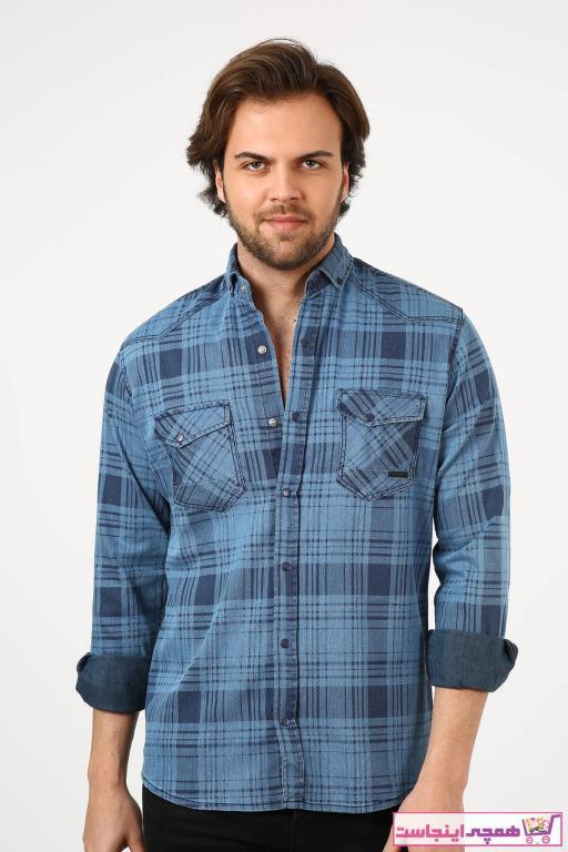 پیراهن اسپرت مردانه قیمت برند Ette رنگ آبی کد ty96984962
