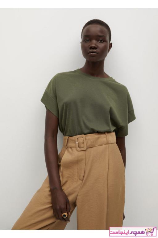خرید مدل تیشرت زنانه برند MANGO Woman منگو رنگ خاکی کد ty96998614
