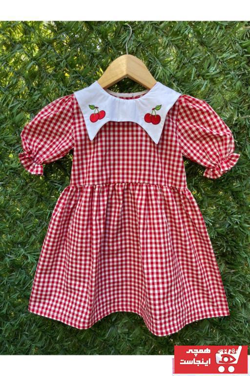 خرید اسان پیراهن دخترانه اسپرت جدید برند Mokita رنگ قرمز ty97010106