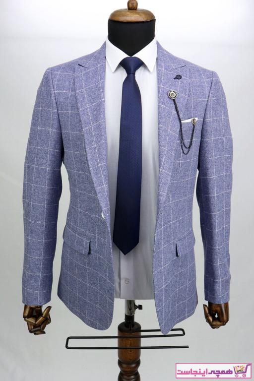 کت تک مردانه مارک دار برند ZAYFA رنگ لاجوردی کد ty97511233
