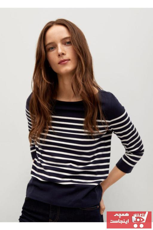 خرید پستی پولوشرت زیبا برند MANGO Woman منگو رنگ لاجوردی کد ty97539168