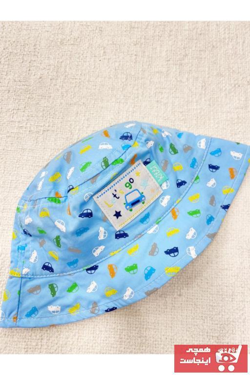 کلاه طرح دار برند Kitti رنگ آبی کد ty97605002