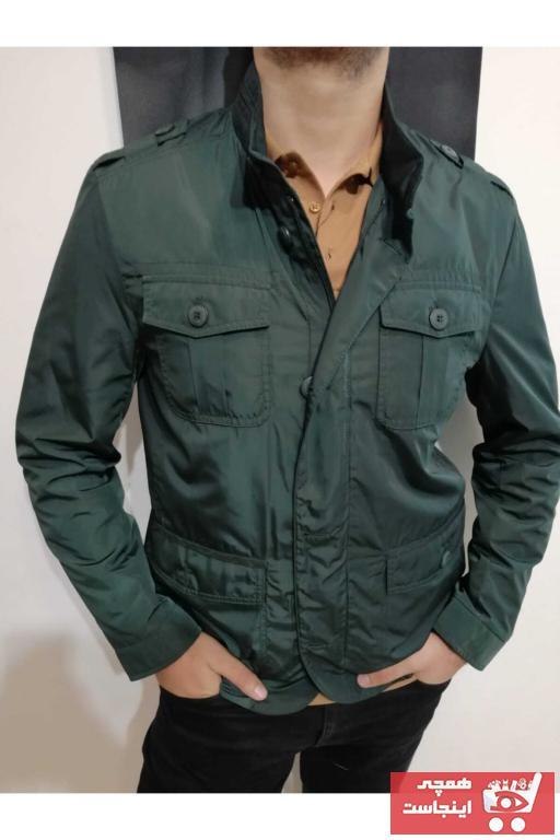 کاپشن مردانه ترک جدید برند BIGAZZI رنگ سبز کد ty97711882