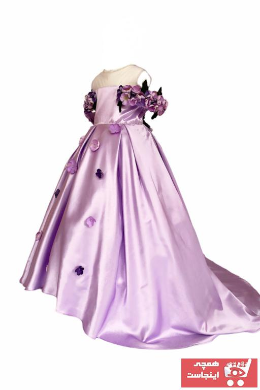لباس مجلسی زنانه خاص برند zühre balaban رنگ بنفش کد ty97803460
