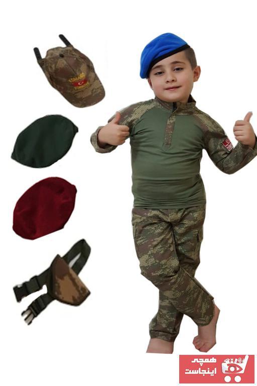 لباس خاص بچه گانه اینترنتی برند DEHAMODA رنگ خاکی کد ty98102766