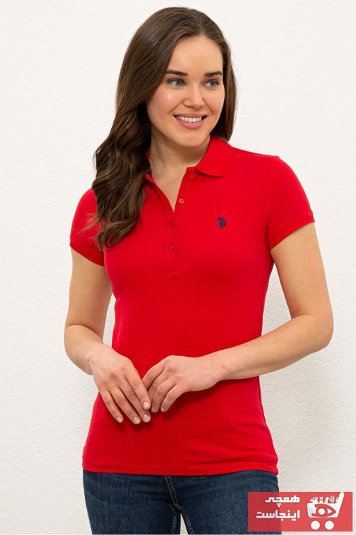 تیشرت زنانه ترک برند U.S. Polo Assn. رنگ قرمز ty98112499