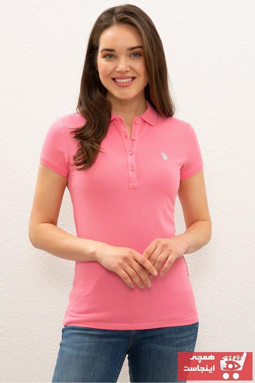 فروشگاه پولوشرت زنانه مارک U.S. Polo Assn.برند US Polo رنگ صورتی ty98112508