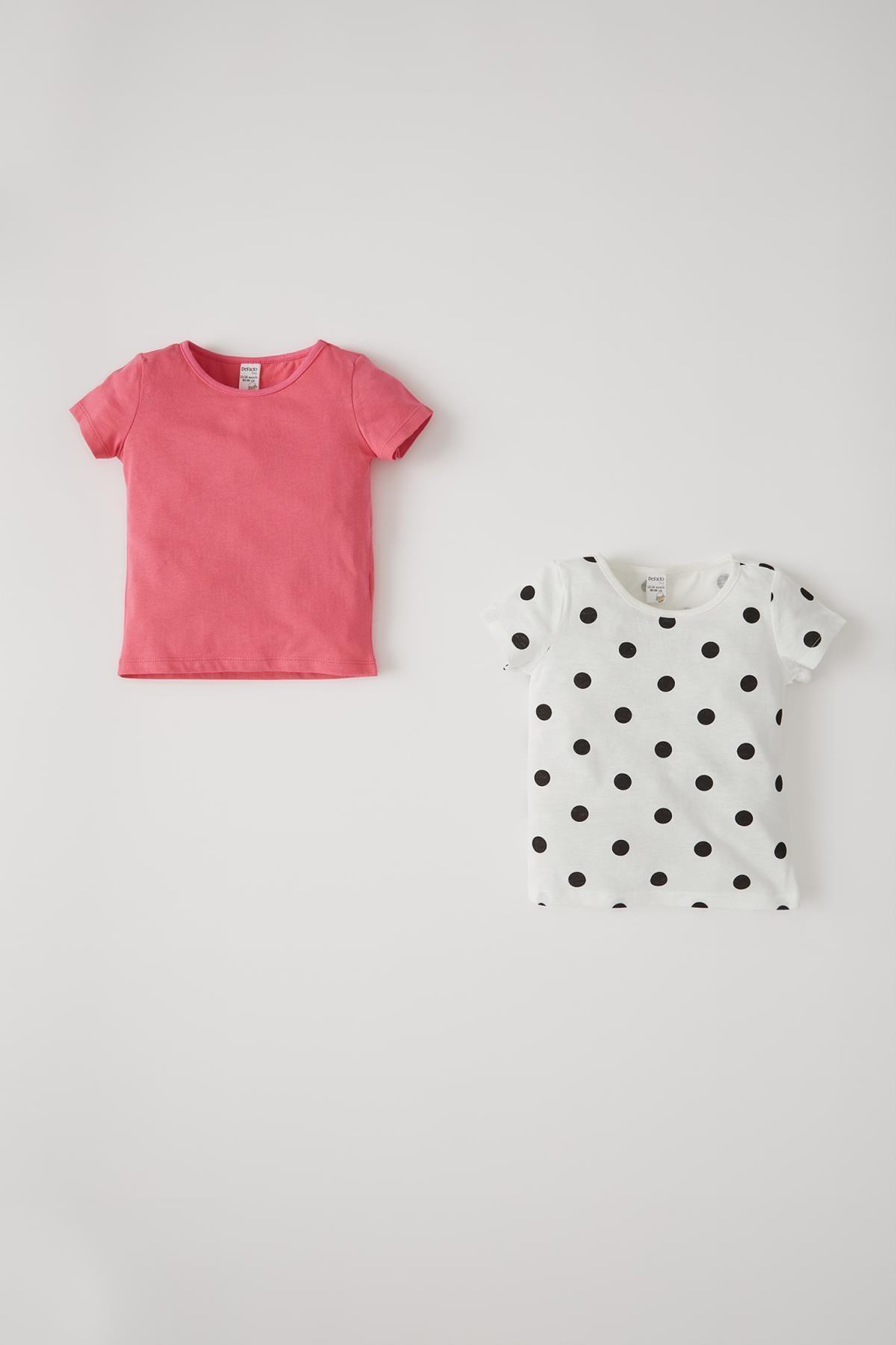 خرید انلاین تیشرت نوزاد دخترانه خاص مارک دفاکتو رنگ صورتی ty98353201