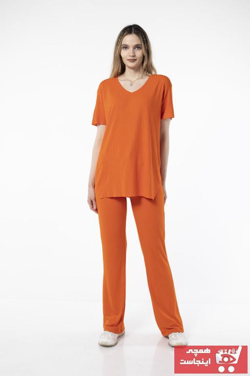 فروشگاه ست ورزشی زنانه تابستانی برند GLAMISH رنگ نارنجی کد ty98601986