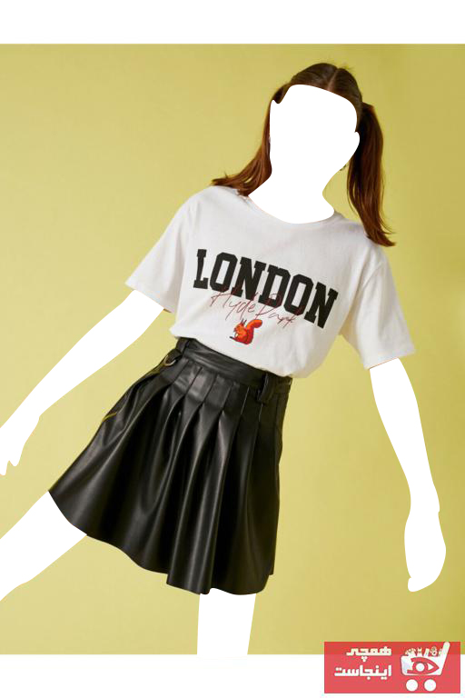 خرید پستی تیشرت زنانه پارچه نخی برند کوتون رنگ بژ کد ty98613342