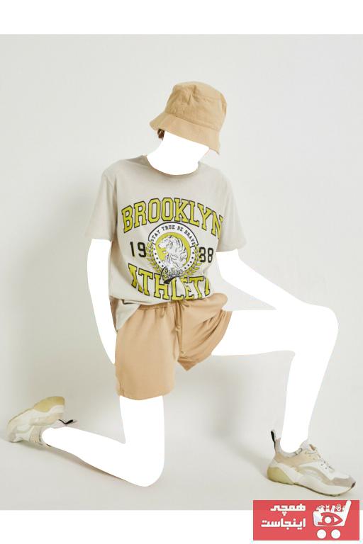 فروش پستی تیشرت زنانه شیک جدید برند کوتون رنگ نقره ای کد ty98630423