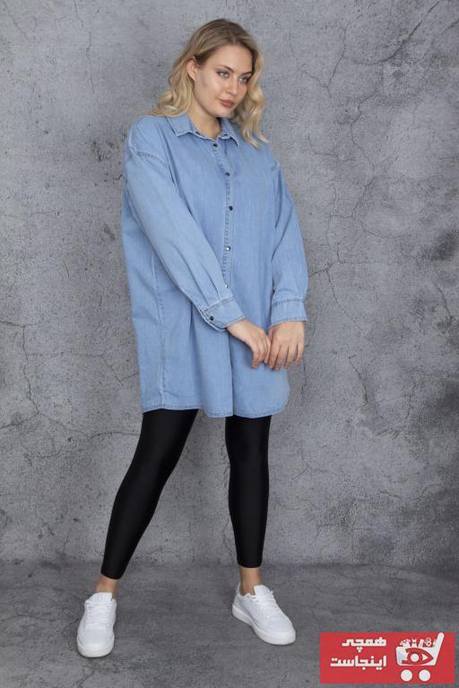 تونیک 2020 زنانه برند Şans رنگ آبی کد ty98808507