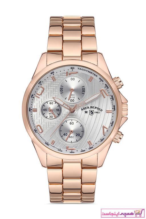 خرید آنلاین ساعت مردانه اورجینال برند Aqua Di Polo 1987 رنگ صورتی ty98870120