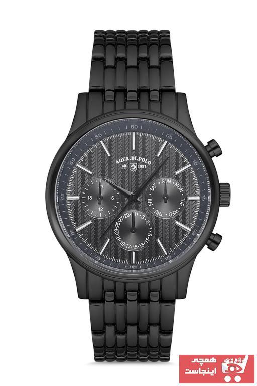 خرید آنلاین ساعت مچی مردانه لوکس مارک Aqua Di Polo 1987 رنگ مشکی کد ty98870326