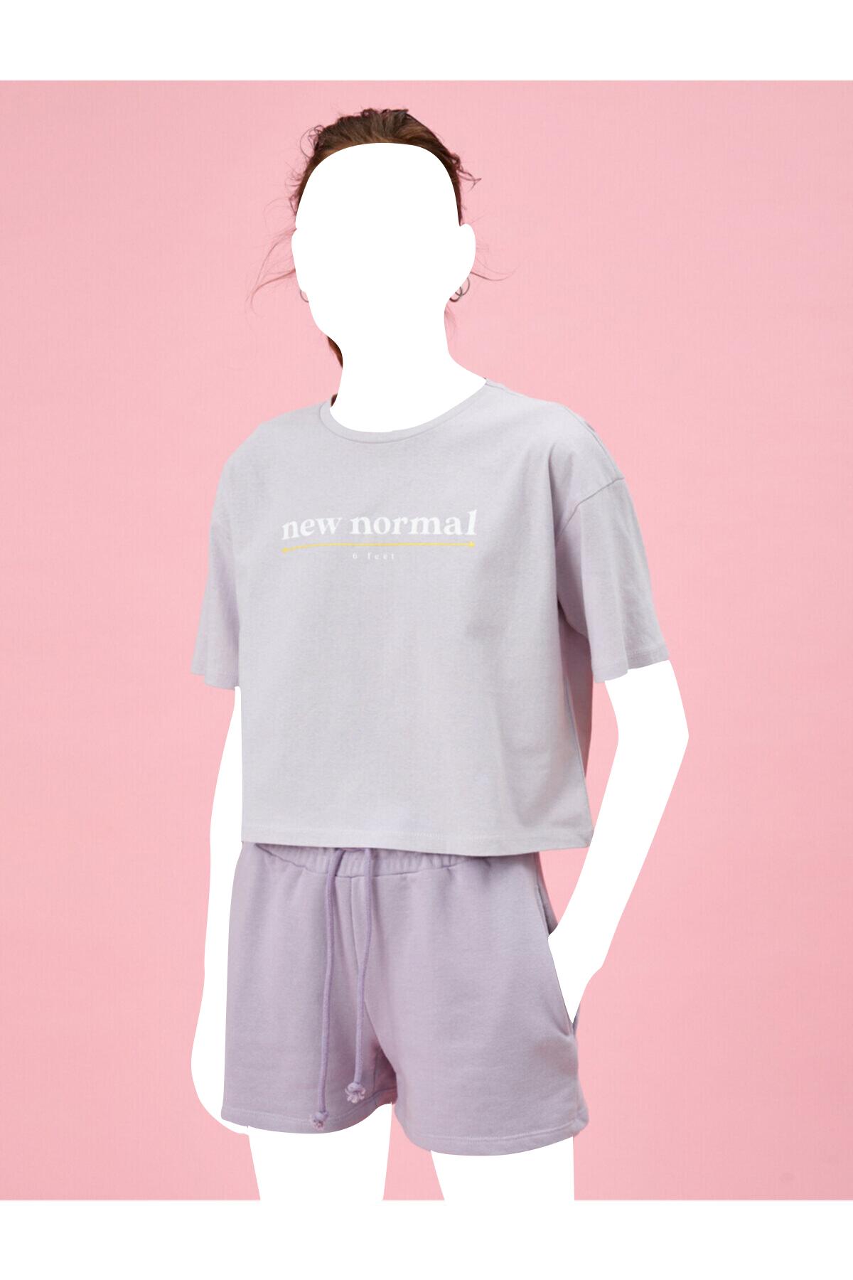 تیشرت زنانه خاص برند کوتون رنگ بنفش کد ty98999109