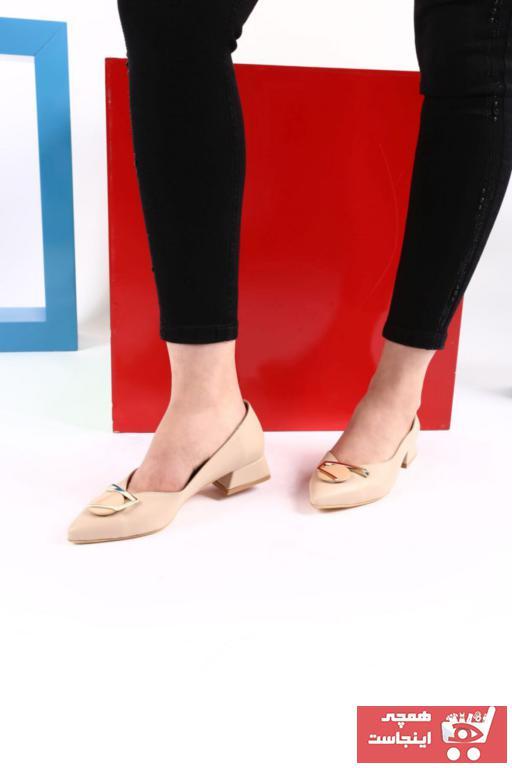 کفش پاشنه بلند مجلسی اورجینال برند DGN رنگ بژ کد ty99006170