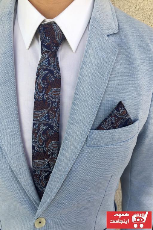 سفارش انلاین کراوات ساده برند Kravatistan رنگ آبی کد ty99039002