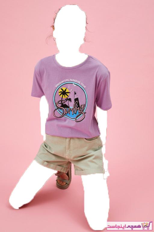 تیشرت زنانه شیک مجلسی برند کوتون رنگ بنفش کد ty99481156