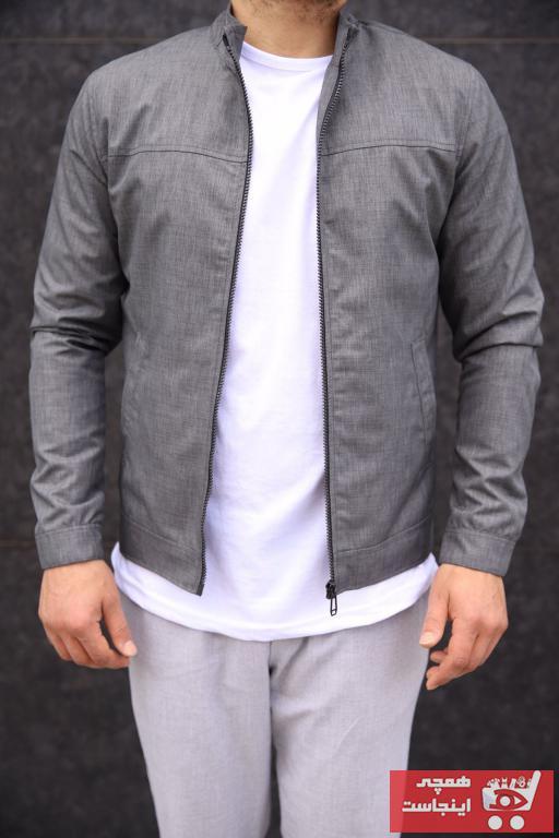 خرید ژاکت مردانه ترک جدید مارک DENSMOOD رنگ نقره ای کد ty99543435