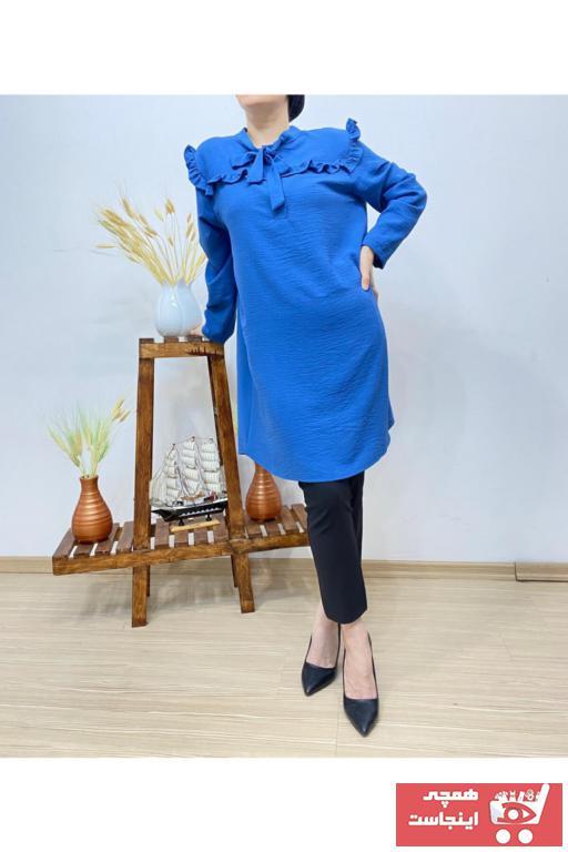 تونیک زمستانی زنانه برند Butik Ahengi رنگ لاجوردی کد ty99676635