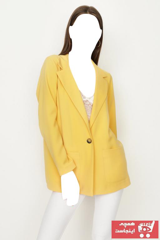 ژاکت زنانه خفن برند Select Moda رنگ زرد ty99695172