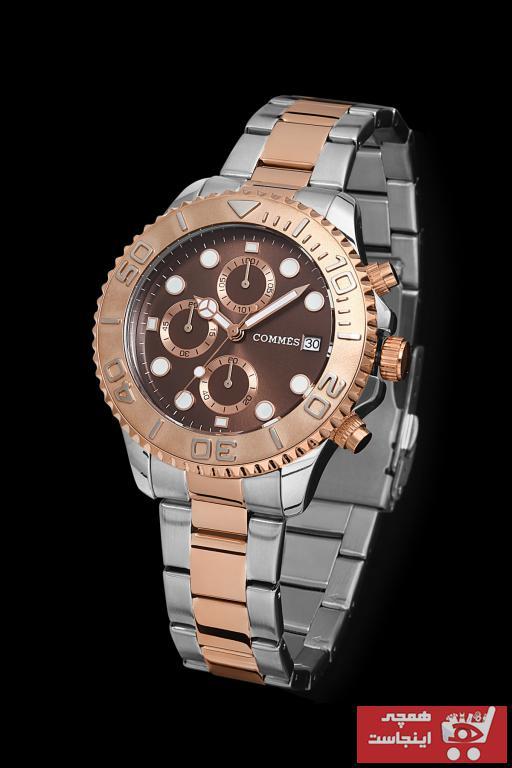 خرید پستی ساعت مچی مردانه لوکس برند COMMES رنگ صورتی ty99730368