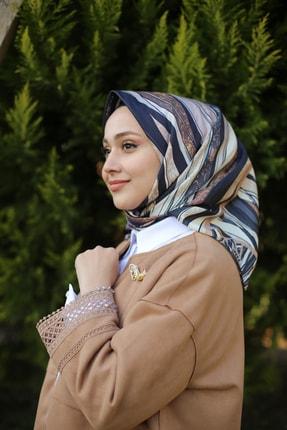 روسری زنانه ترک جدید برند MaPolien رنگ نقره ای کد ty66555354