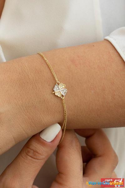 دستبند طلا بلند برند Minaliva رنگ زرد ty100093735