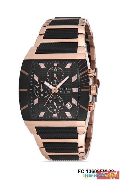 خرید انلاین ساعت شیک مردانهارزان برند Ferrucci رنگ مشکی کد ty100732182